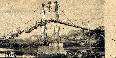 West Easton Foot Bridge circa 1930